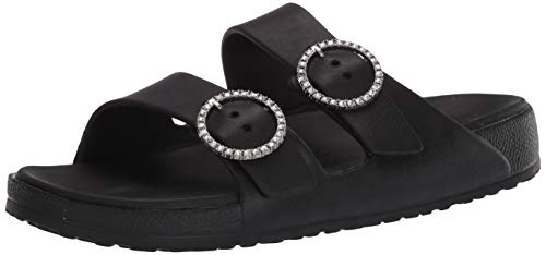 Skechers Women's Cali Gear Slide Sandal, Black, 8 M US