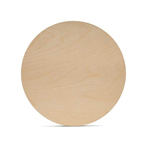 Wood Circles 8 inch, 1/8 Inch Thick, Birch Plywood Discs, Pack of 3 Unfinished Wood Circles for Crafts, Wood Rounds by Woodpeckers