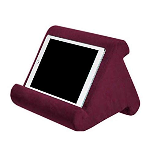 Mya Multi-Angle Cushion for Tablets, Soft Pillow for Tablets, Smart Phones, Digital Book Readers, Books and Magazines wine red