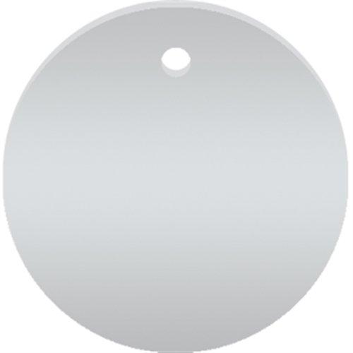 Werkzeugmarken ohne Gravur, Alu, eloxiert, Silber, Ø 3 cm