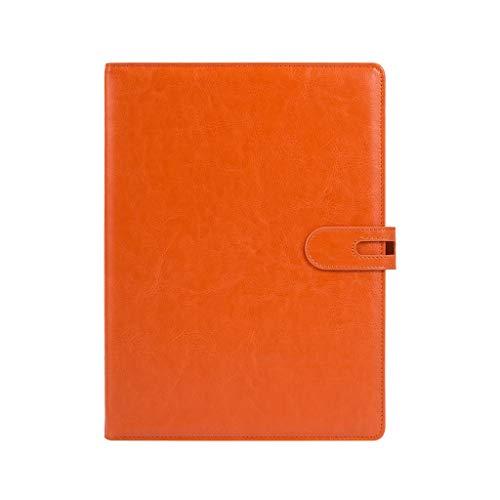 Cuaderno WDX- Espesar Simple Estudio Exquisito portátil Bloc de Notas de Office Diary grabación (Color : Orange, Size : 19.9 * 26.8cm)