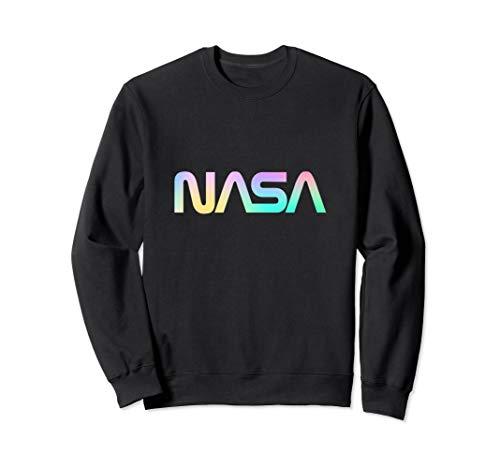 80's Vintage NASA 'Worm' Logo - Rainbow Gradiant Sweatshirt