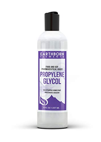 Propylene Glycol (8 oz.) by Earthborn Elements, 100% Pure, Food & Pharmaceutical Grade, Hypoallergenic Moisturizer & Skin Cleanser