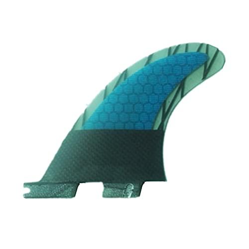 xldiannaojyb 2 unids Fibra de Vidrio Aletas de Tabla de Surf Fibra de Carbono Rudder Paddle Board Thruster Surboard Accesorios (Size : G3)
