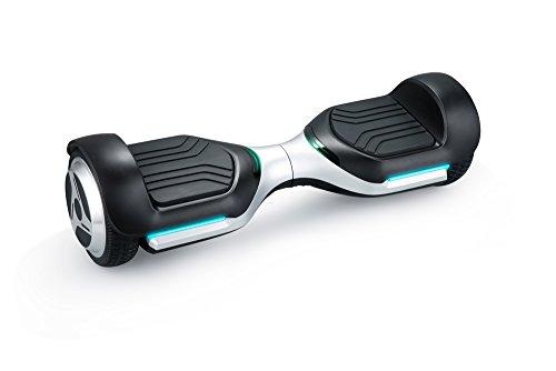 Iconbit Unisex Jugend Smart Ul, Original Hoverboard 2x350 Watt Motorleistung, Balance Scooter mit 3 Arm Prozessoren, Silber/schwarz, Uni