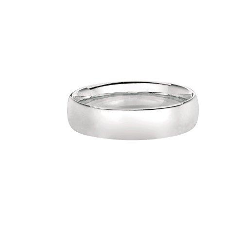 14kt Gummistiefel weiß gold 6mm glänzend Hochzeit Band