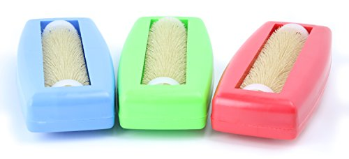 Crumpy 3X Krümelbürste, Krümelroller Tischroller Tischbesen Teppichbürste Tischkehrer Handstaubsauger Tischdecken Bürste Auto Caravan Staubsauger Rapido Aspiratutto blau+grün+rot