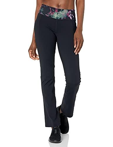 Skechers Walk Go Flex 4 Pocket Boot Cut Pant Pantis, Cintura Estampada Negra, L para Mujer