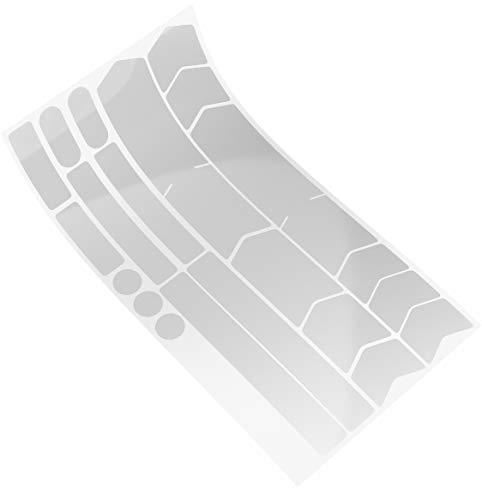 Blackshell® Fahrrad Schutzfolie transparent - Aufkleber Fahrrad für z.B. Trekkingrad, MTB, Rennrad oder E-Bike - 21-teiliges Set Fahrrad Aufkleber Rahmen