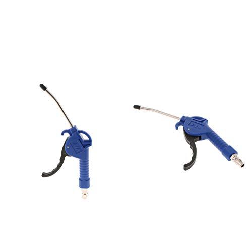 SDENSHI 2 Stücke Luft Staub Gebläse Pistole Set Kompressor Pistole Staubtuch Blaswerkzeuge Fit Kupfer Blau
