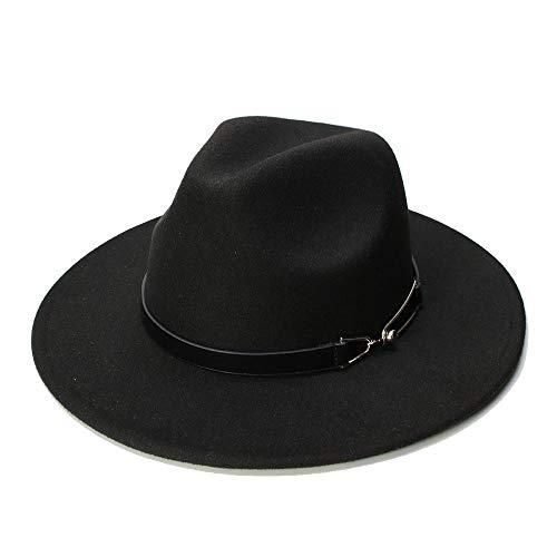 YuanBo Wu Sombrero de Fieltro de Lana Hombres Sombreros de Fedora con Mujer Gorras Vintage Sombrero de Lana Fedora Warm...