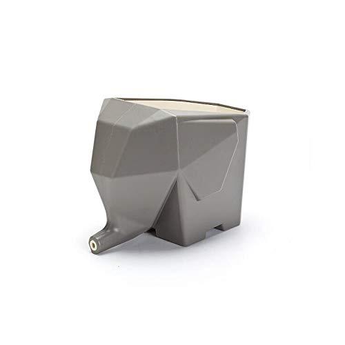 Escurridor de cubiertos de cocina, portavasos MTDH multifuncional con tres tazas, para guardar vajillas/porta bolígrafos/maceta, gris