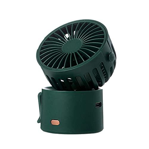 XINKONG Office Tranquilo Plegable Escritorio Ventiladores de Mano Ajustable Personal Mini fanático Mesa de Escritorio Ventilador para Oficina al Aire Libre Viajes (Color: Verde) DAKSL (Color : Green)