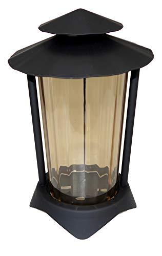 Grablaterne, Grablampe, Grablicht, aus Stahl mit Erdanker 2499 (Black)