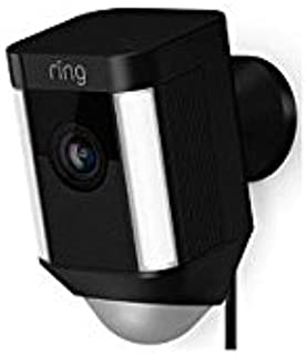 Spotlight Cam Wired: Plugged-in HD security camera with built-in spotlights, two-way talk and a siren alarm, Black