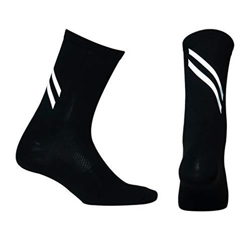 Unisex Reflektierende Bike Socken für Laufen, Gehen - Sportsocken, Kompressionssocken Ergonomische Passform Sportstocken