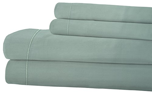 RDM Koncept LA Touche Collection T720 Sheet Set Solid Combed Cotton Sateen California King Taupe