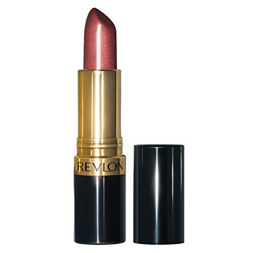 Revlon Super Lustrous Lipstick with Vitamin E and Avocado Oil, Pearl Lipstick in Mauve, 610 Gold Pearl Plum, 0.15 oz