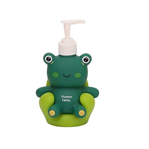 Hkw-shop Automatisch Seifenspender Kind Lotion Flasche oder Seifenspender Cute Duckling Ferkel Frosch Aussehen Geeignet for Küche Bad oder Kindergarten Flüssigseifen-Spender (Color : Green)