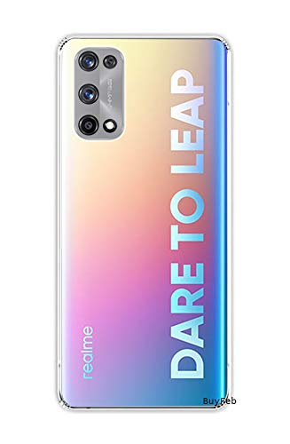BuyFeb Mobile Cover for Realme X7 Pro (Soft & Shockproof Back Case with inbuilt Cushioned Edges), Transparent