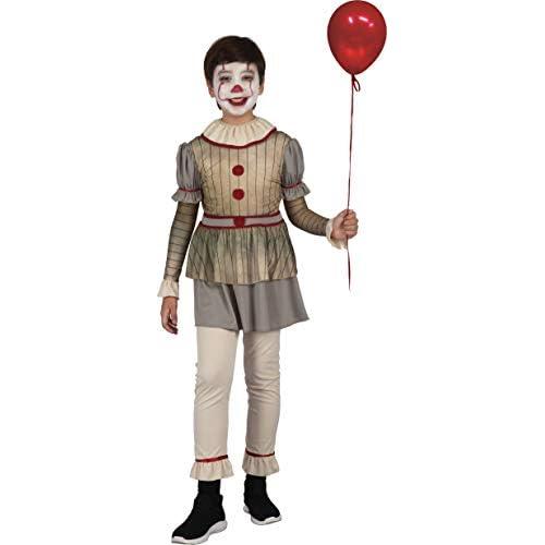Ciao-Costume Horror Creepy Clown bambino, 7-10 anni, Multicolore, 16074.7-10