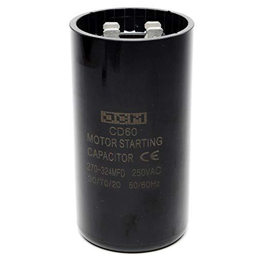 JCM Motor Start Capacitor 270-324 uf MDF 220-250V AC 50/60 Hz Round CD60