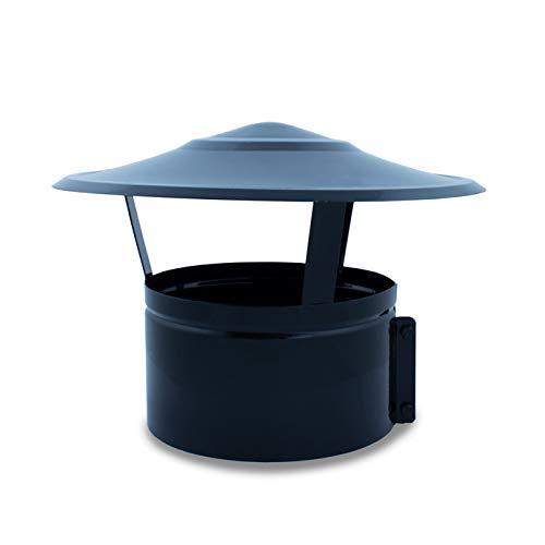 Sombrerete fijo, terminal, vitrificado para chimeneas y estufas de leña y pellet, cualquier diámetro, autoconectables (250 mm)