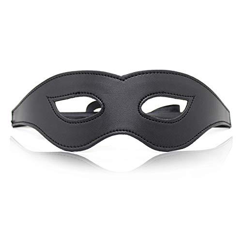 Wunhope Augenmaske Erotik blickdicht Leder sex Schwarz SM Bondage Geschirr Rollenspiel Einstellbar Bettfesseln augenbinde schlafmaske