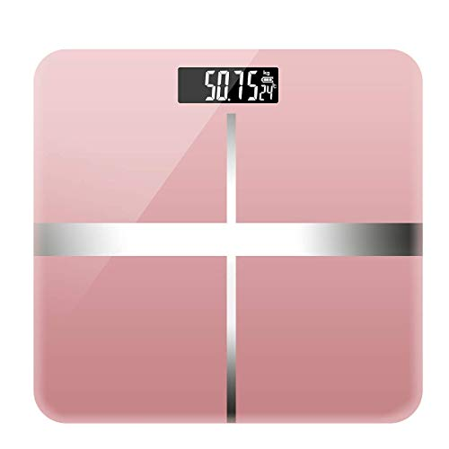 LFDHSF Personenwaage Weight Watchers Ultra Slim Hochpräzise Digitale elektronische Personenwaage-Pink
