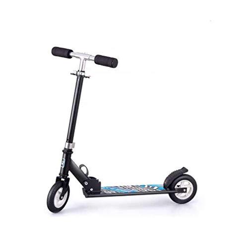 DJ-MJJ Scooter de Pedales for niños no eléctrico de Tres Ruedas, la luz Ultra-Velocidad Regulable en Altura portátil, 3-12 años de Edad de los niños Scooter de Dos Ruedas Plegable (Size : B)