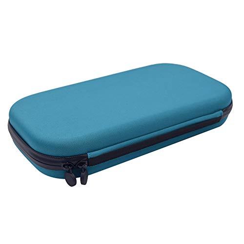 Estuche rígido para estetoscopio, incluye bolsillo de malla para accesorios, funda de EVA duradera con protector interior suave de pelusa Tamaño libre azul