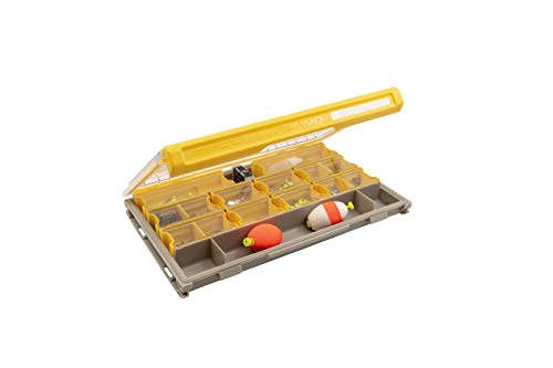 Plano Edge 3600 Terminal Tackle Storage | Premium Tackle Organization with Rust Prevention | Clear/Yellow