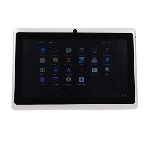 WOVELOT Tableta para NiiOs de 7 Pulgadas Androide CáMara Dual de Cuatro NúCleos Regalo de Juego Educativo WiFi para NiiOs NiiAs Blanco