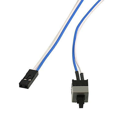 '20.5Interruptor de botón de encendido cable largo para PC Interruptores Reinicio Ordenador