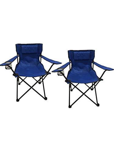 HOMECALL SET opvouwbare campingstoelen, armleuning met bekerhouder, picknicktafel voor buiten, met kussen
