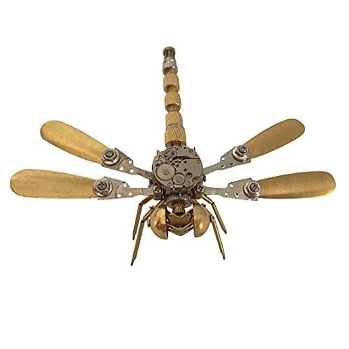 xSuper Kit de modelo de insectos de libélula de metal 3D, kit de modelo de metal de rompecabezas 3D para adultos DIY serie de insectos mecánicos