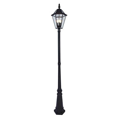 Lutec LED Solar Post Lantern in Black (300 Lumens, Up to 8...