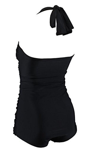 Aloha-Beachwear Damen Badeanzug A3006 Schwarz Gr. 38 - 3