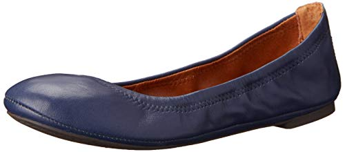 Lucky Brand Women's Emmie Ballet Flat, American Navy/Leather, 8.5 M US