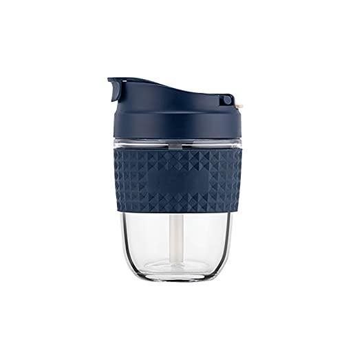 CJFael Botella de agua deportiva para actividades al aire libre, taza de paja a prueba de fugas, cristal antideslizante, creativo, color brillante, 500 ml