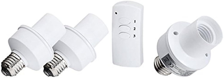 JINHUGU E27 Schraube Drahtlose Fernbedienung Licht Lampe Lampenfassung Cap Socket Switch LED-Licht
