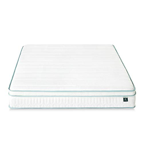 Zinus - Menta, colchón viscoelástico de 135x190x20cm, Certificación OEKO-TEX®