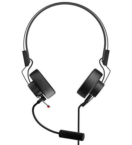 Teenage Engineering M-1 Headphone für OP-Z, Smartphones und Tablets (faltbar, Mikrofon und Kabel abnehmbar, Frequenzbereich: 20 Hz – 20 kHz, Empfindlichkeit: 100 dB SPL, Impedanz: 32 Ohm), Schwarz