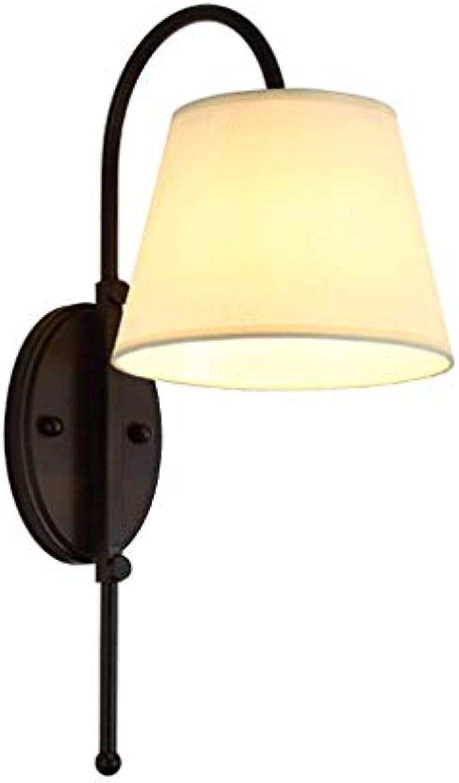 WENYAO Wandleuchte Einzelkopfwandleuchte Nachttischlampe Schlafzimmer TV Hintergrundwand Gang Treppe Hotelzimmer