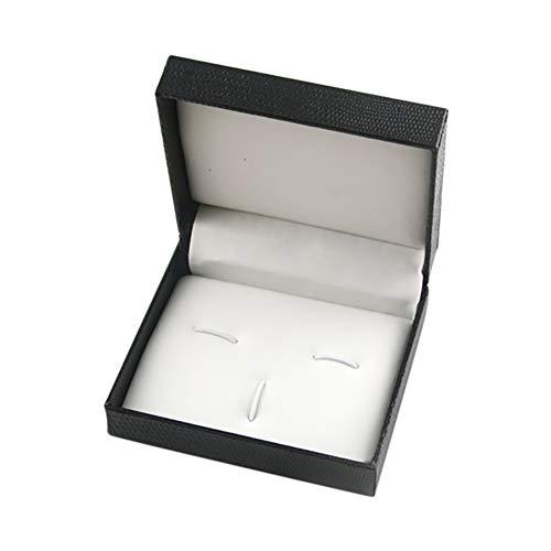 Kentop Schmucketui aus Kunststoff für Manschettenknöpfe, Schmuckkästchen, Geschenkbox, 7 x 8 x 3 cm.