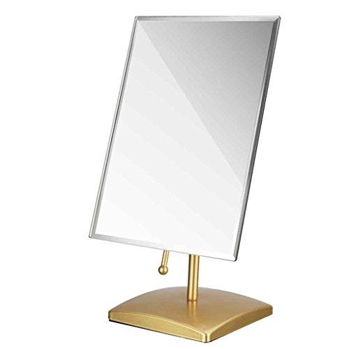 Miroirs de Bureau Portable Pliant Mural de Chambre à Coucher HD de Haute définition Multi-Angle (Couleur : Or)