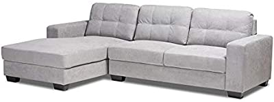 Amazon.com: Modern Bonded Leather Sectional Sofa - Small ...