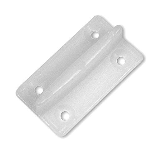 Wilai Schiebetür Zubehör Kunststoffführung Gummistopper Führungsrolle Metall (Kunststoffführung für Türen mit Nut - 30121)