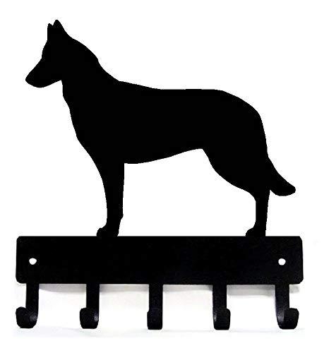 The Metal Peddler Belgische Malinois Schlüsselbrett für Hundeleine Casual Small 6 inch Wide schwarz