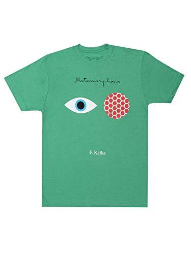 Camiseta masculina com tema livro clássico literário da Out of Print, Metamorfose., S